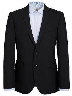 Slim Fit Plain Black Suit Jacket