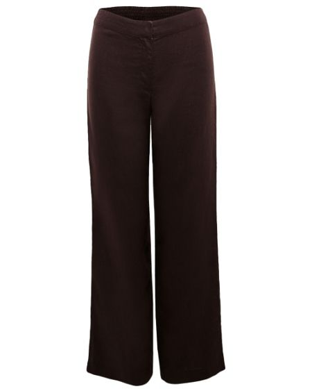 East Elasticated linen trousers