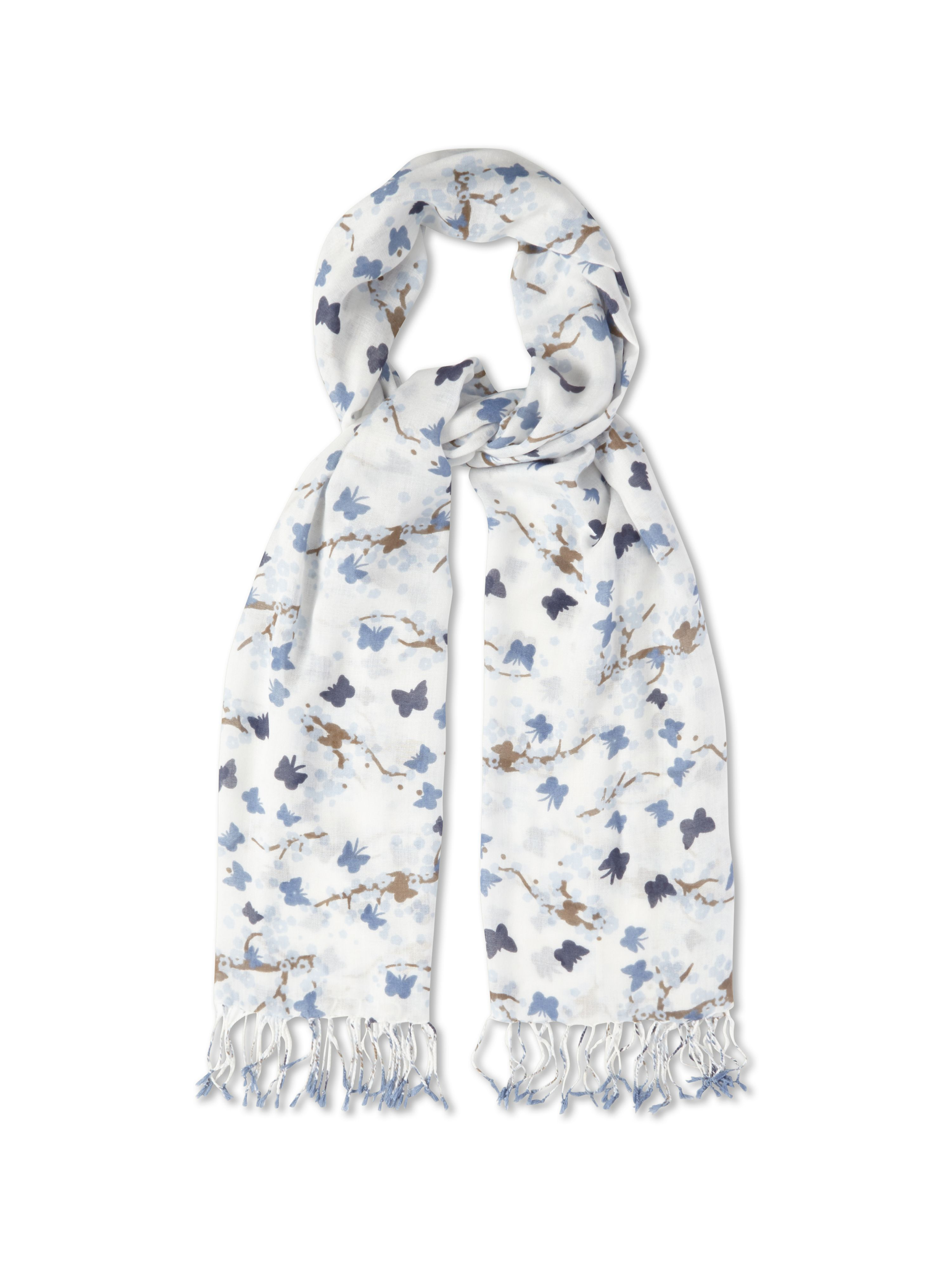 Blossom butterfly scarf