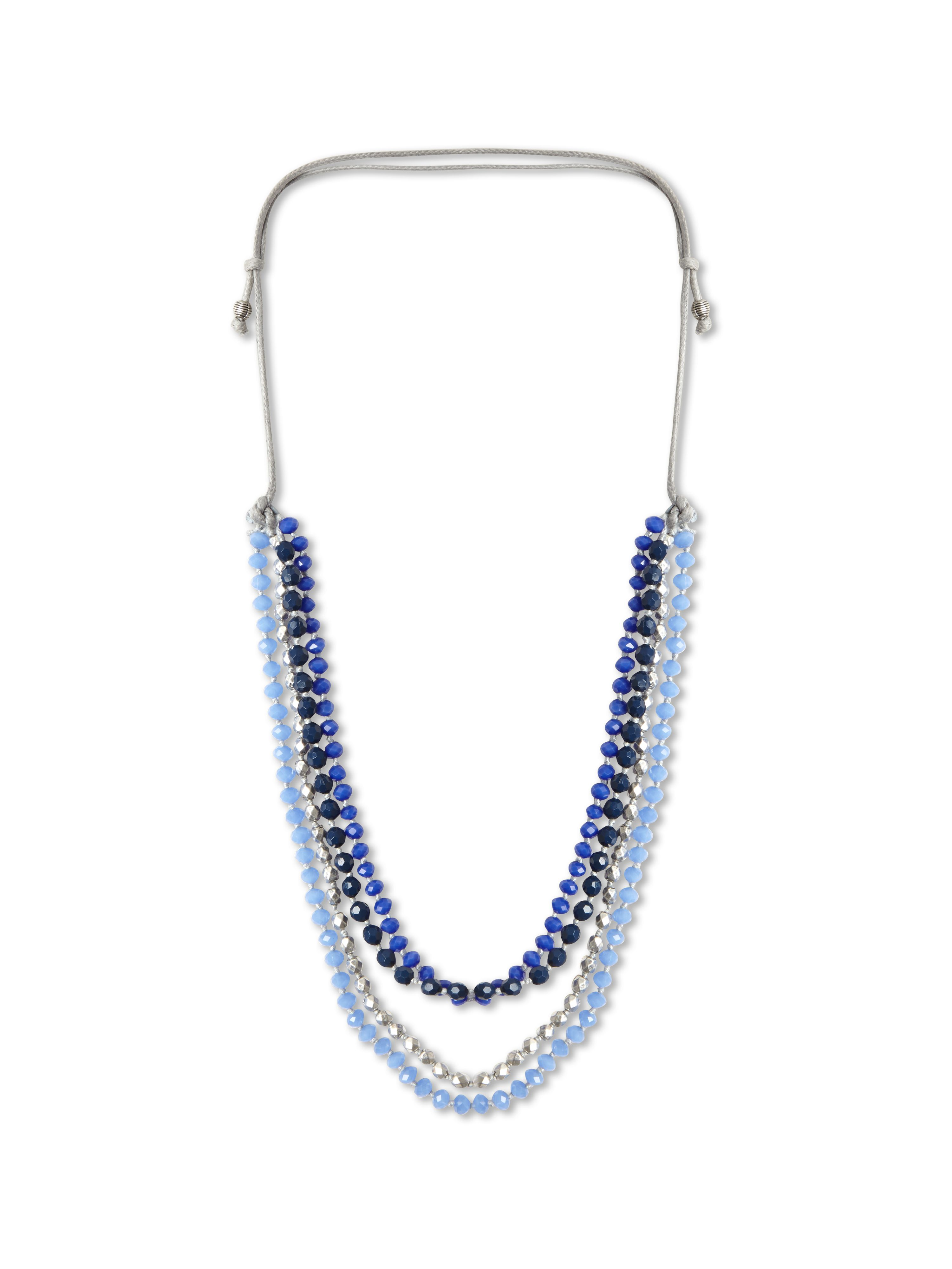 Glass multi strand necklace