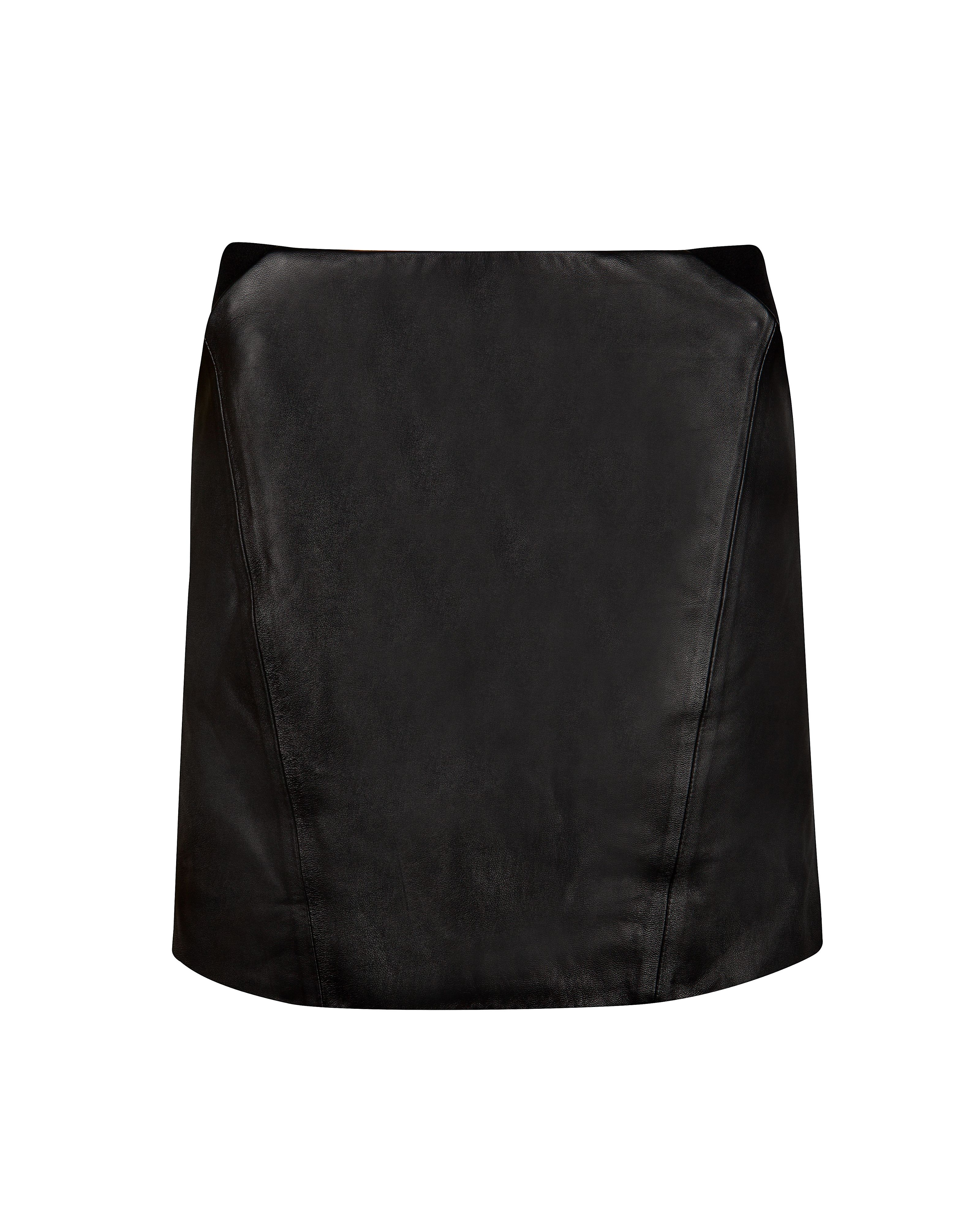 Austine leather mini skirt