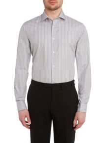TM Lewin Stripe fully fitted long sleeve shirt