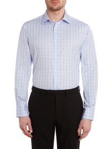Check slim fit long sleeve shirt