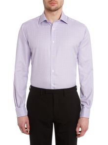 TM Lewin Gingham slim fit long sleeve shirt