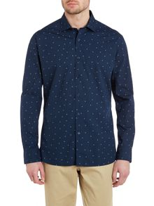 TM Lewin Sunshine print casual long sleeve shirt