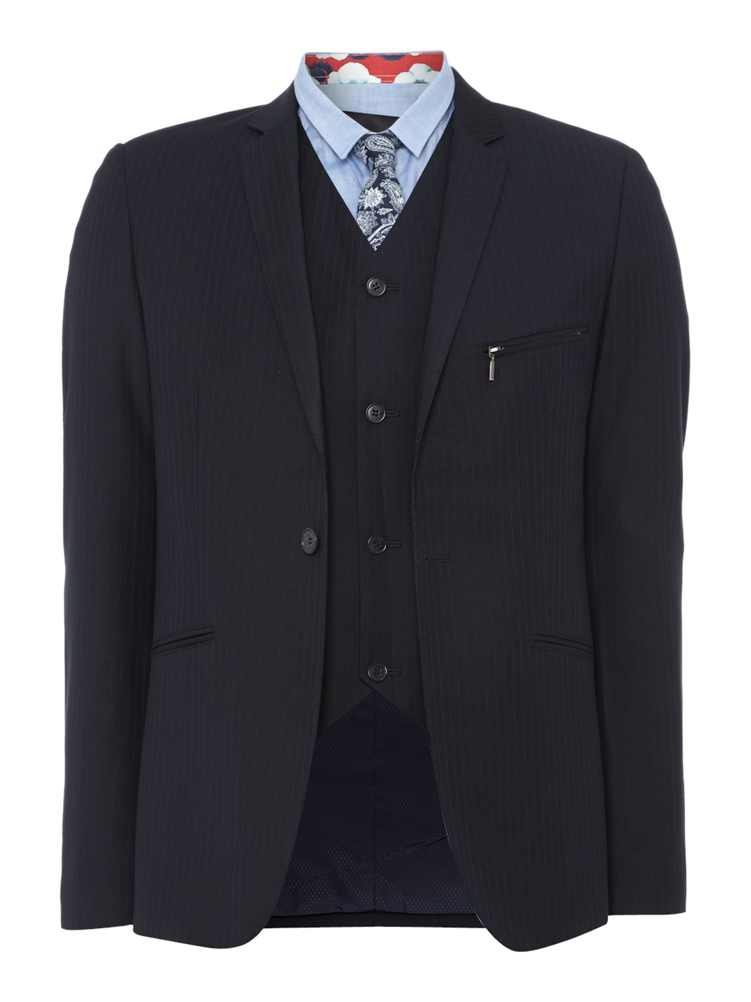 Lane zipp simple single breasted blazer