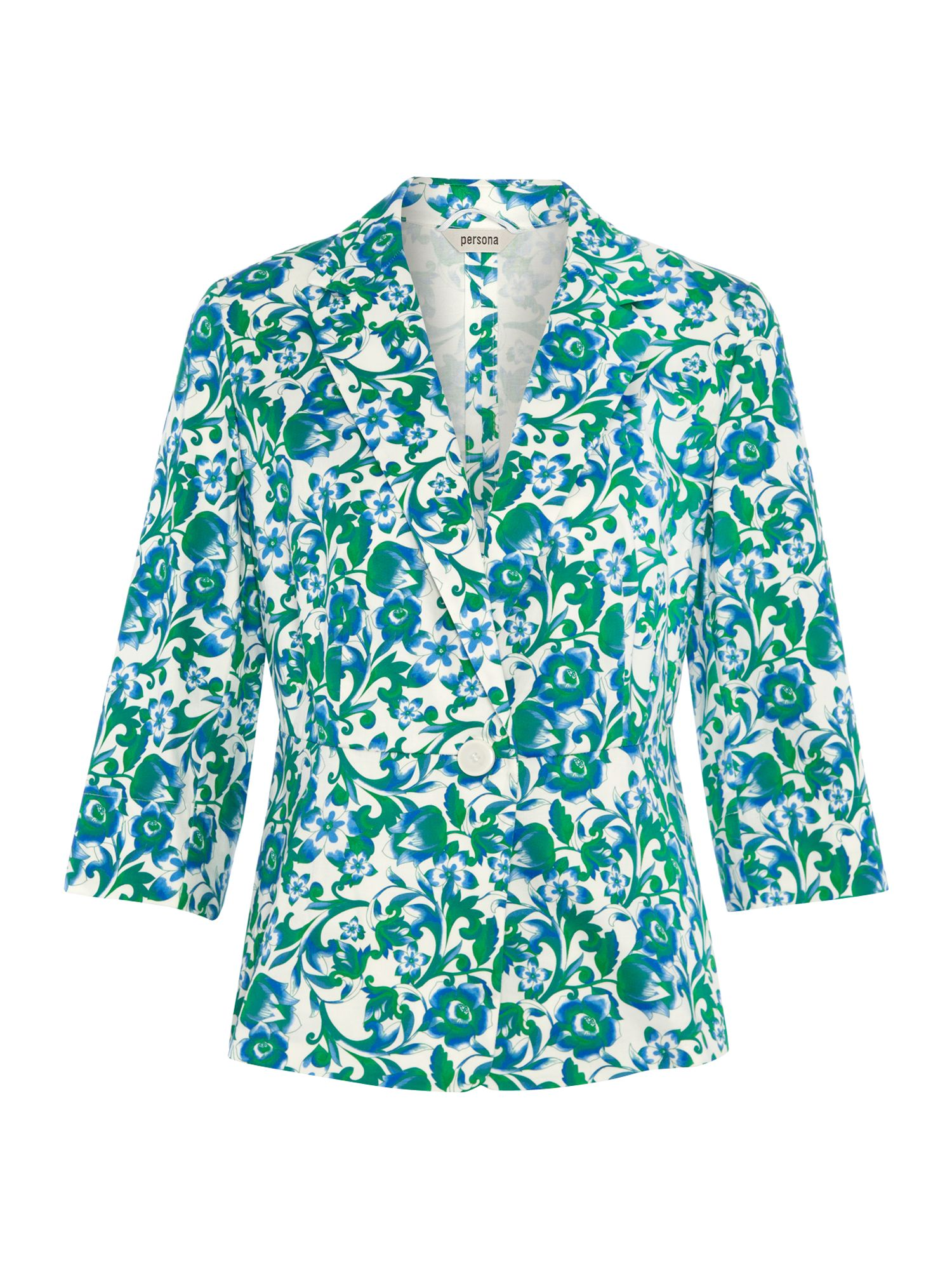 3/4 sleeved floral printed blazer