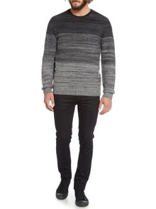 Sake graduated colour knitted jumper