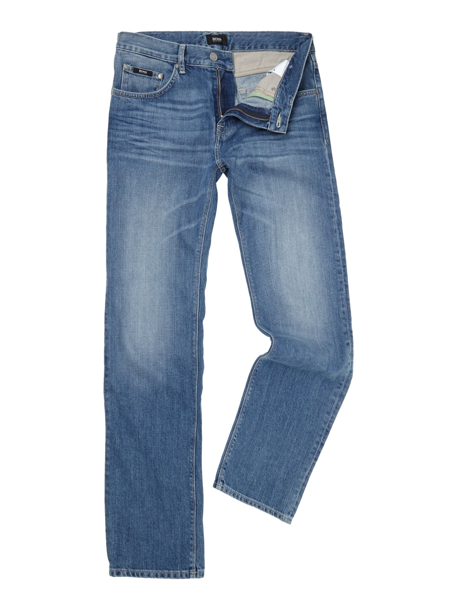 Maine wash straight leg jean