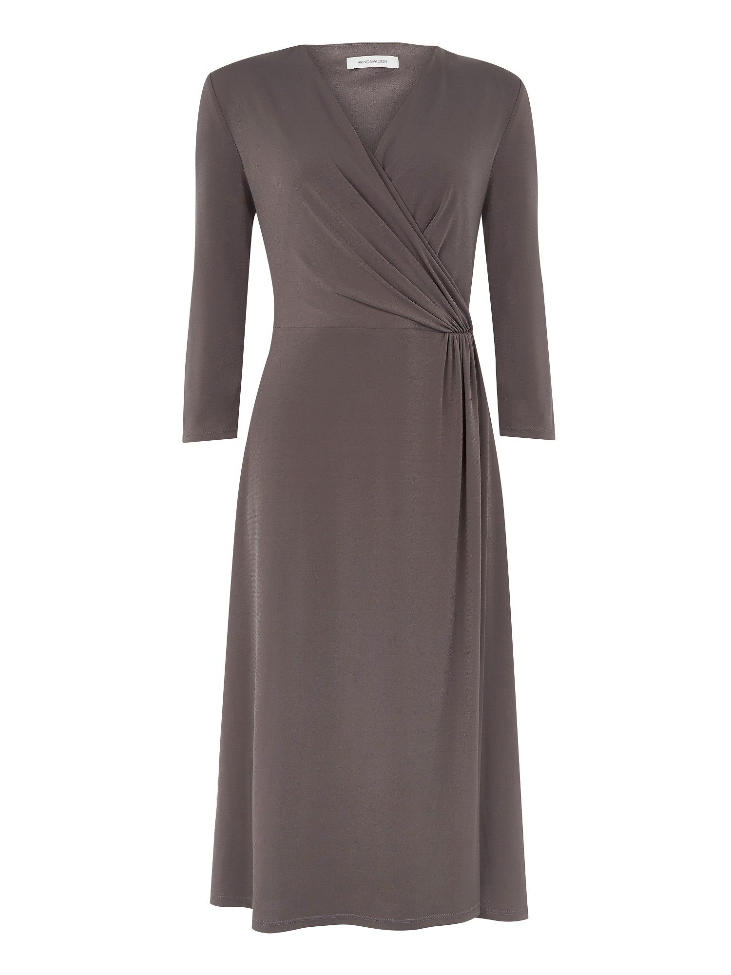 Jersey mock wrap dress
