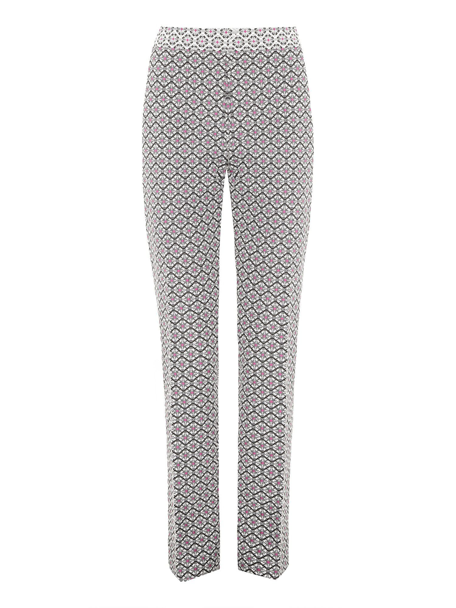 Jacquard textured trousers