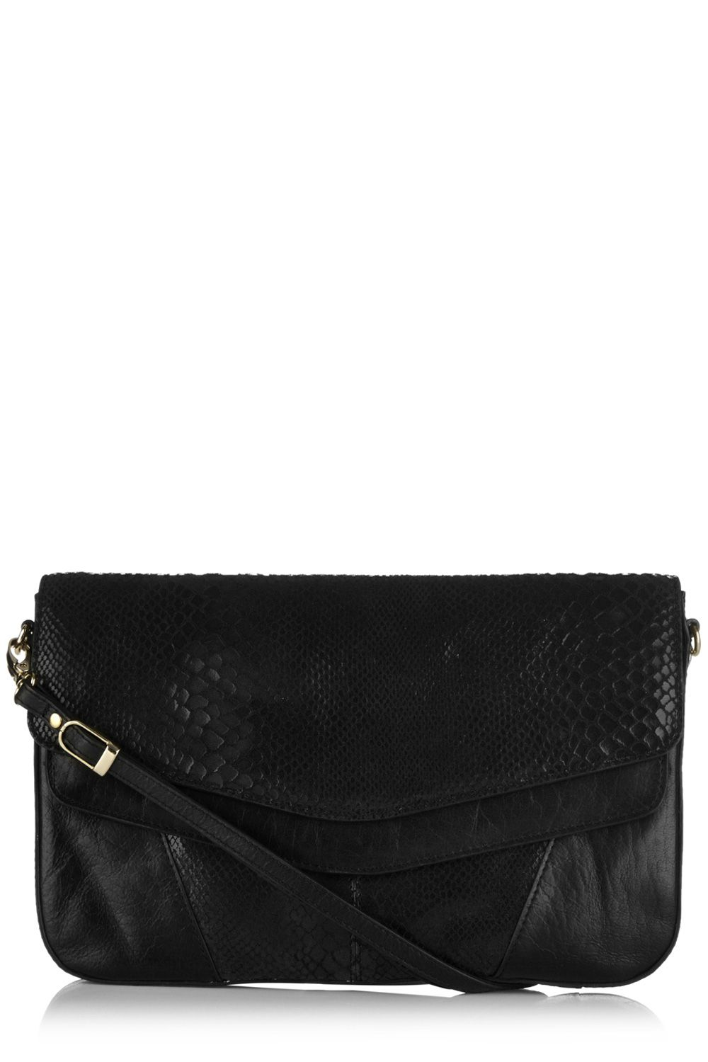 Sassy snake leather clutch bag