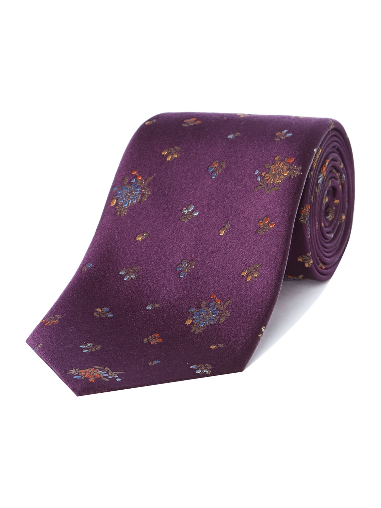 Regular rose print tie