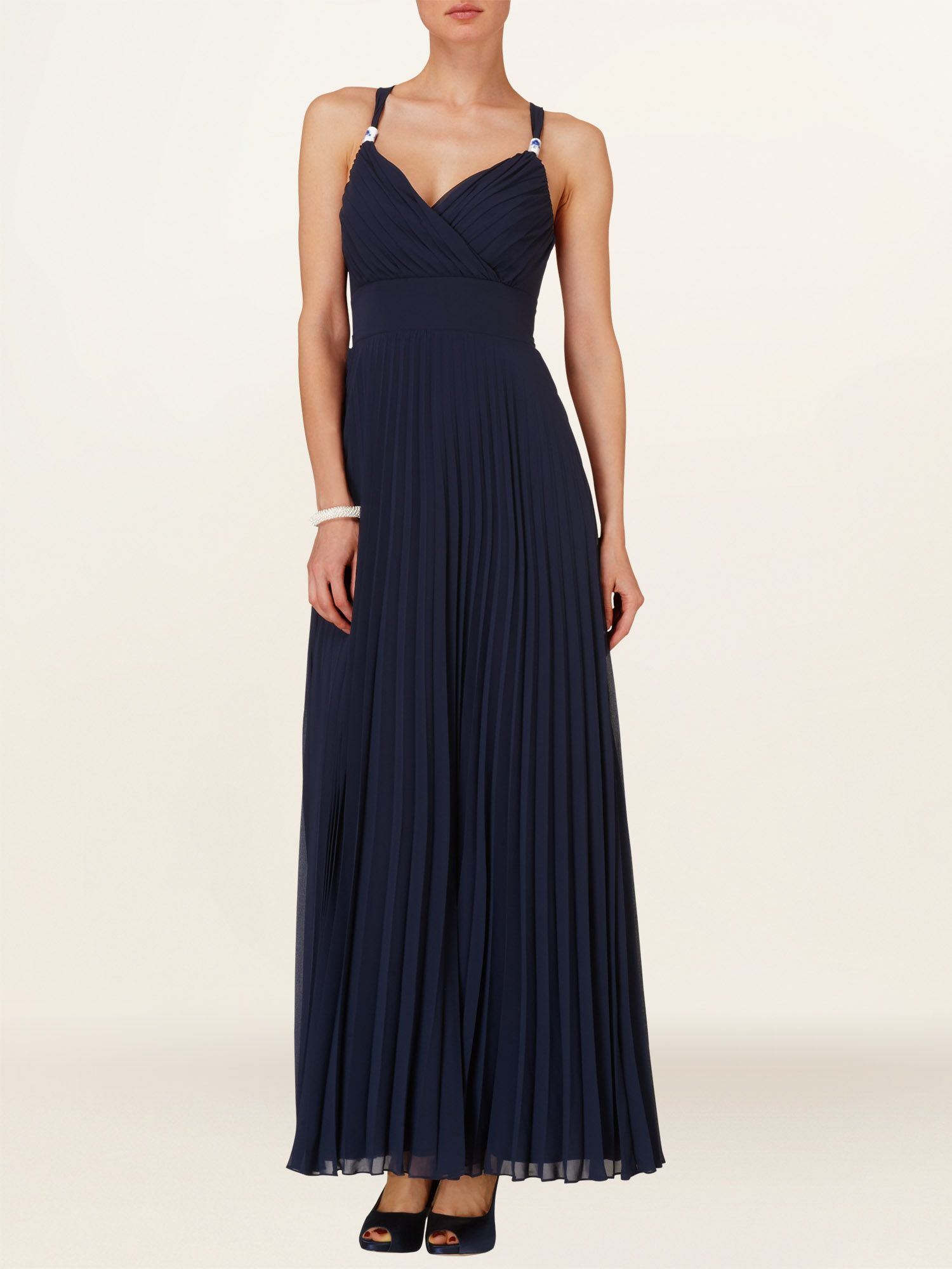 Annalise pleated maxi dress
