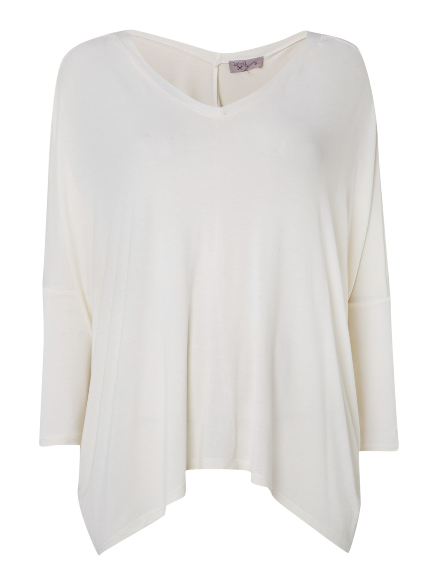 Vee front and back chiffon mix top