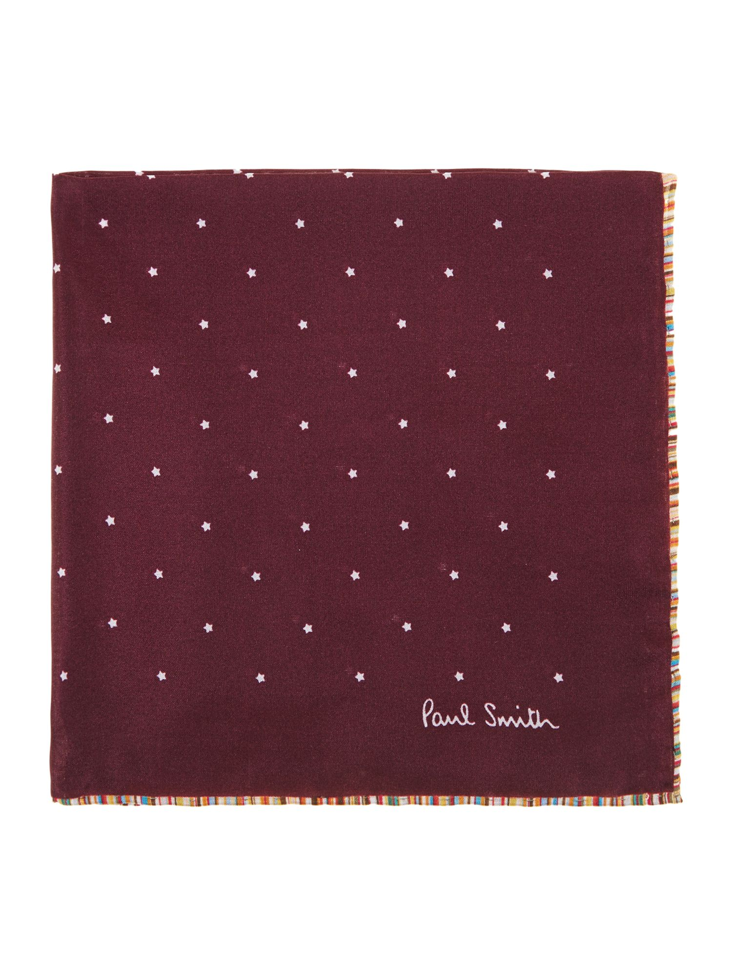 Star print pocket square