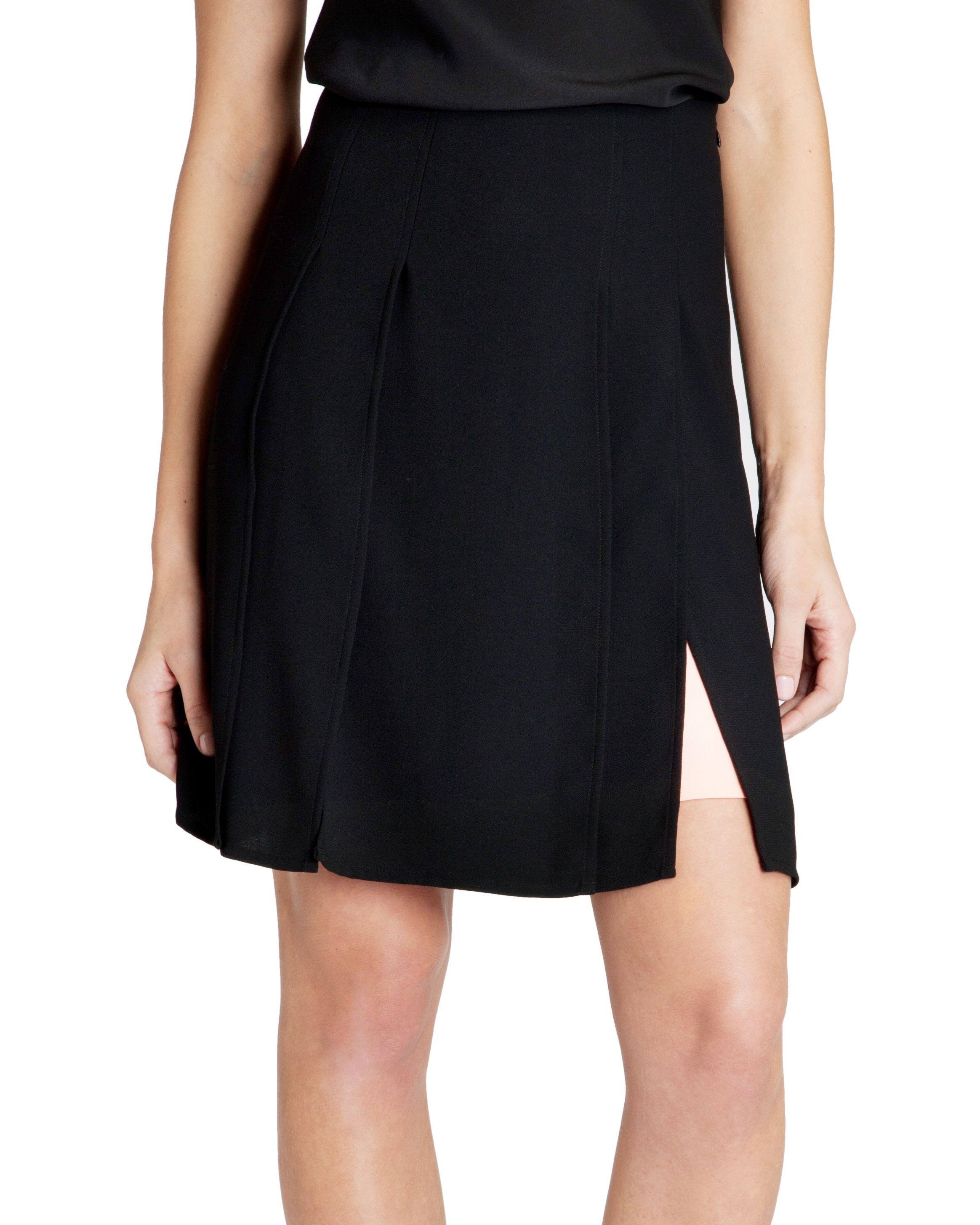 Rheia overlapping panel skirt