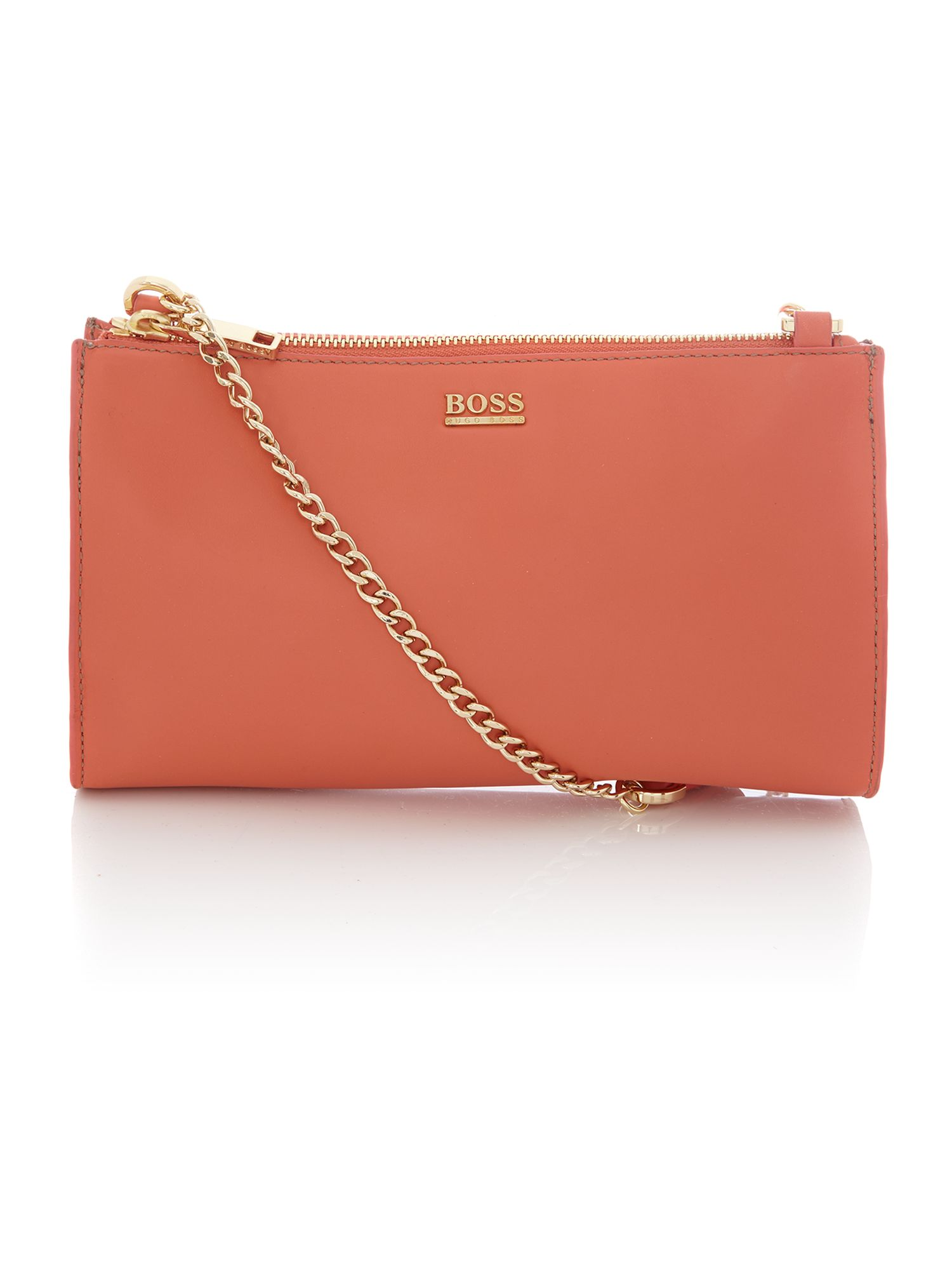 Pink chain cross body bag