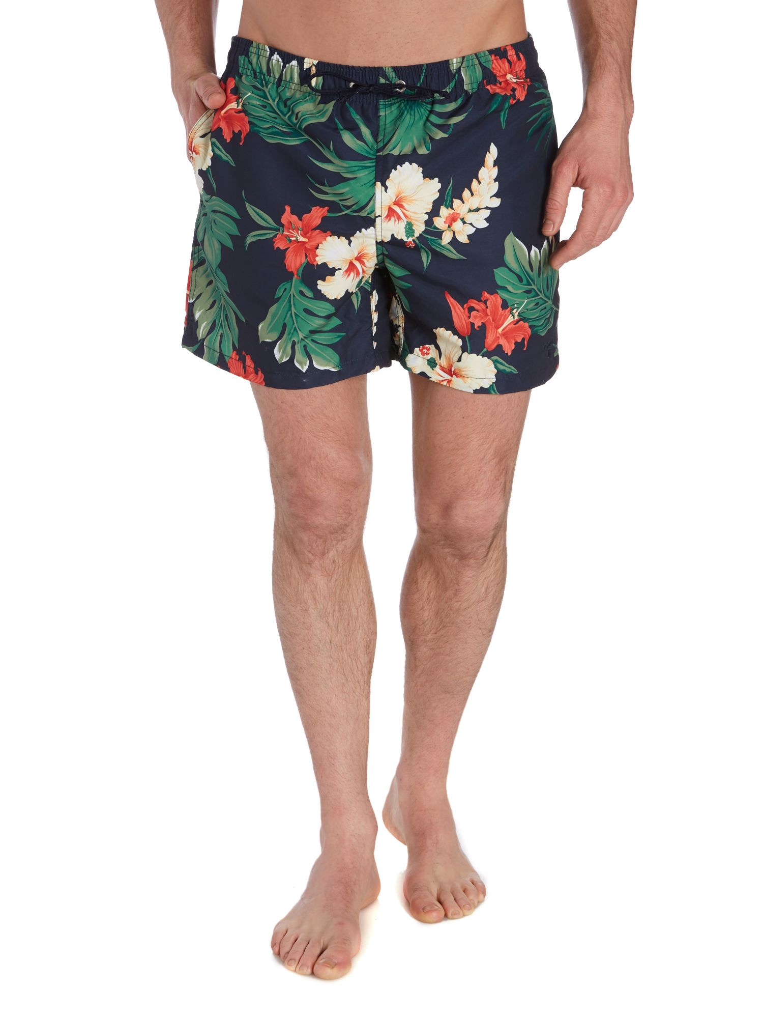 Floral all over print swim short