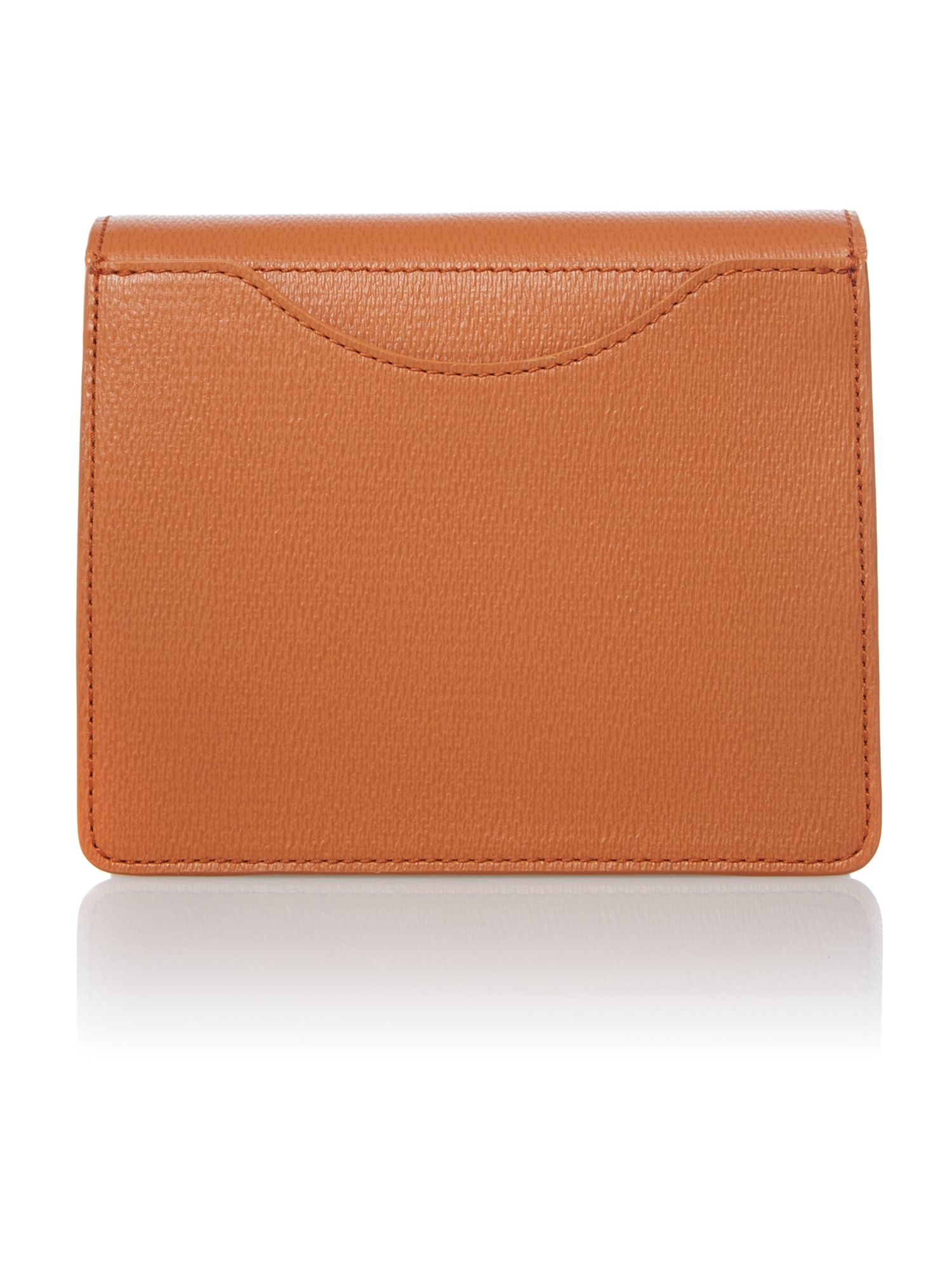 Orange foldover shoulder bag