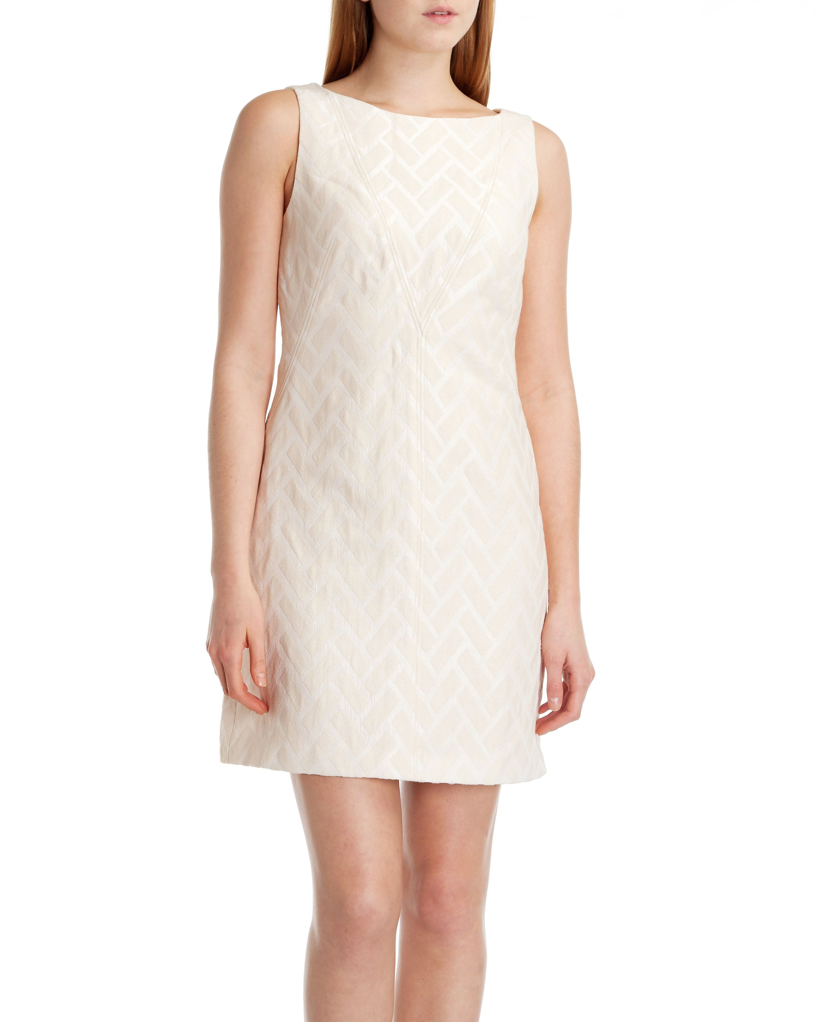 Lelli textured shift dress
