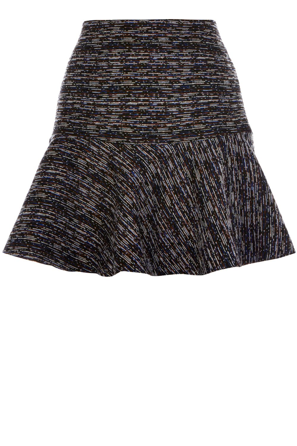 Multi tweed flippy skirt