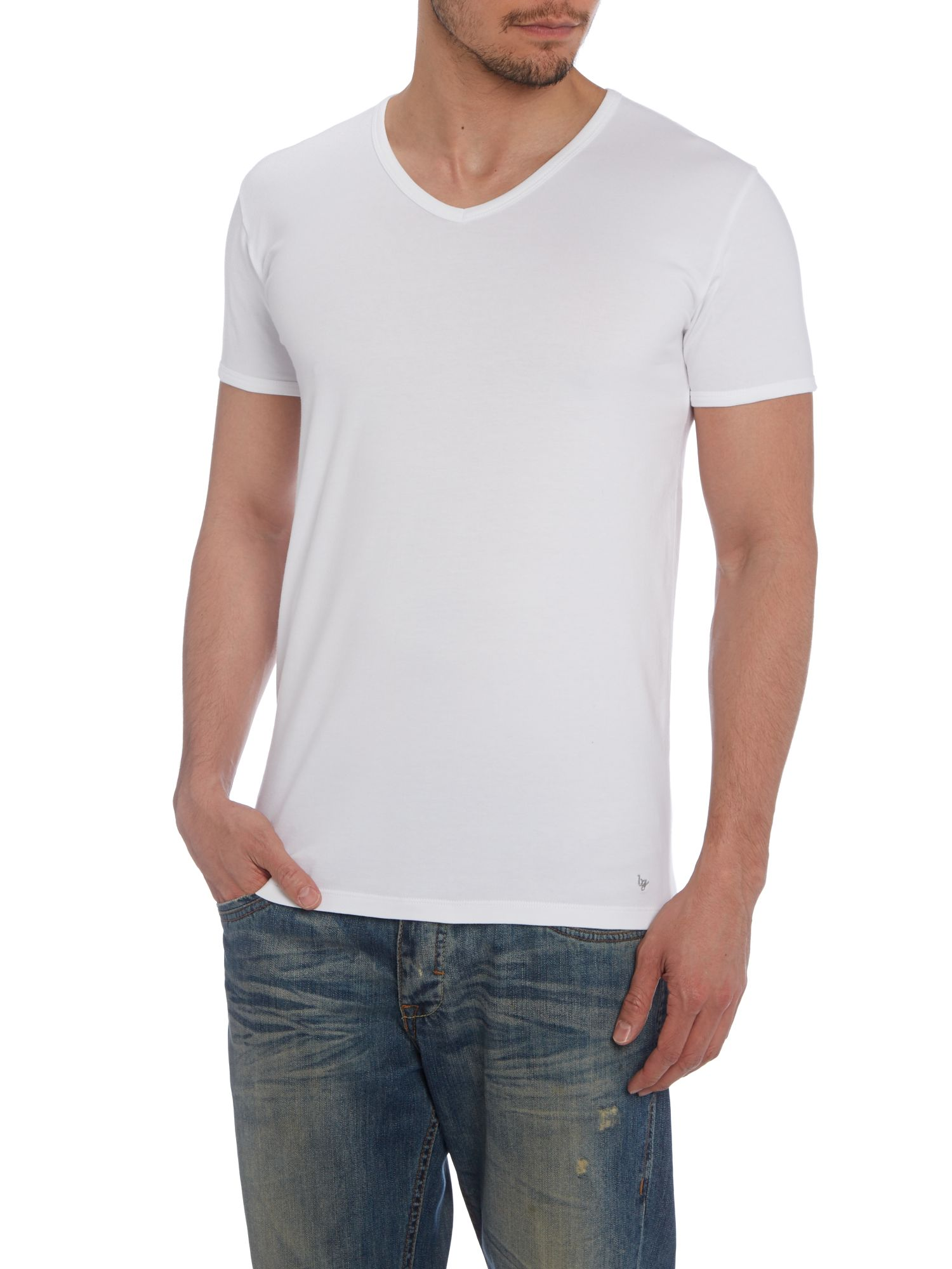 Fitted v neck