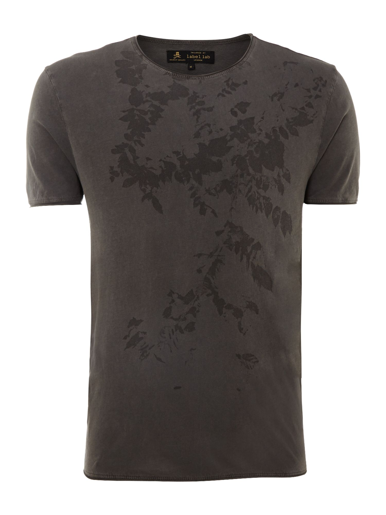 Leaves print graphic t-shirt