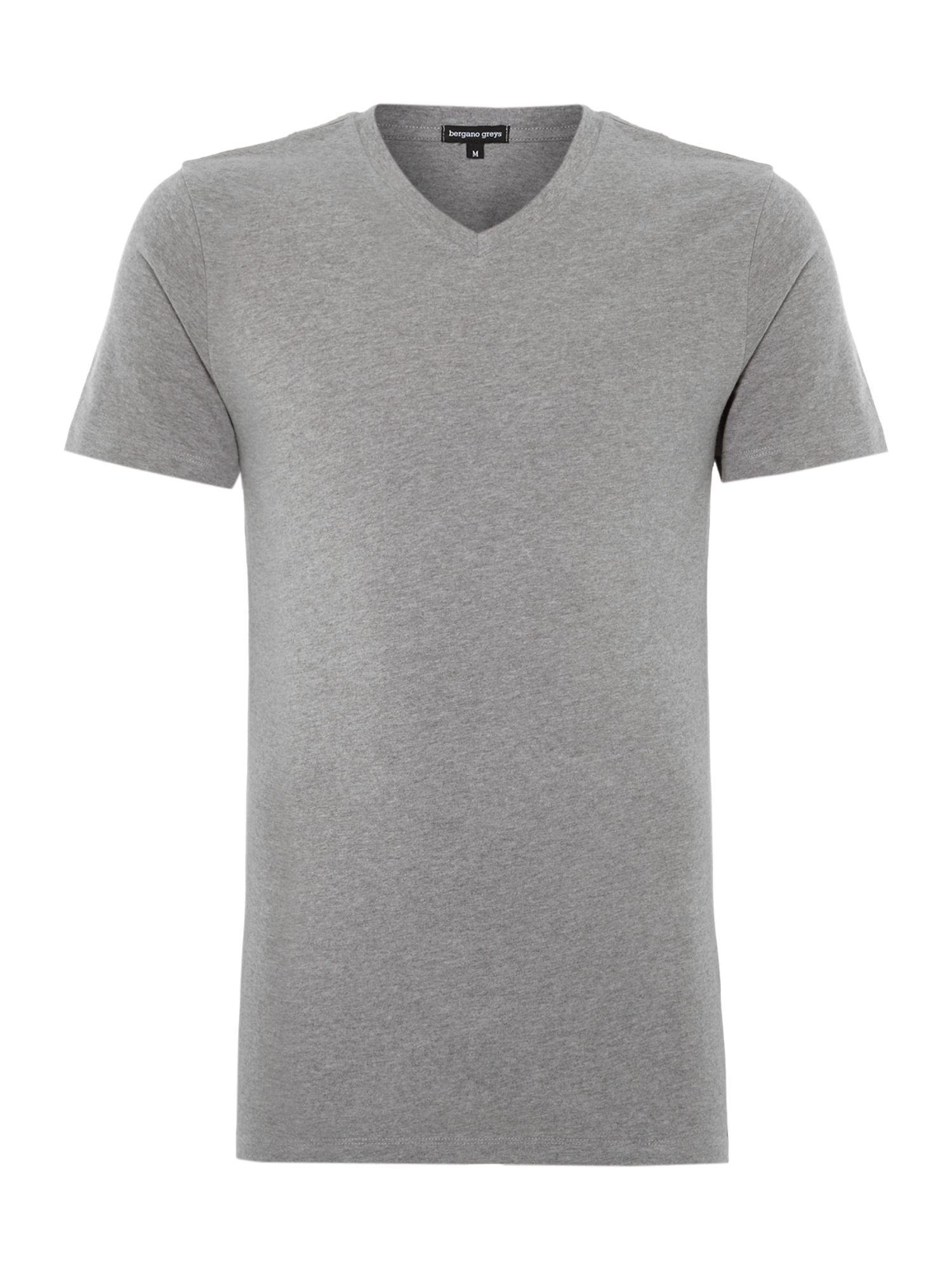 Relaxed fit cotton v neck