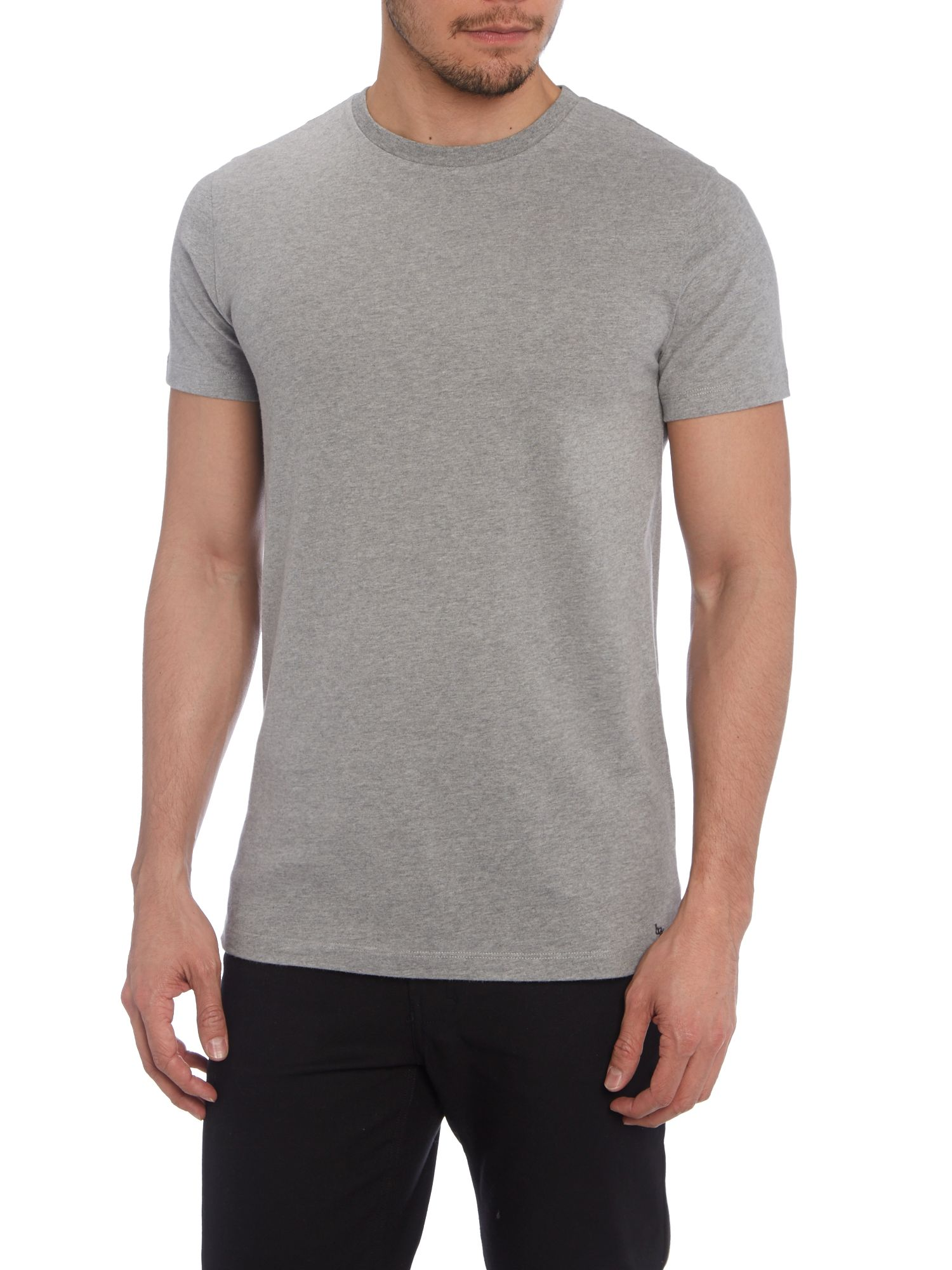 Relaxed fit cotton crew neck