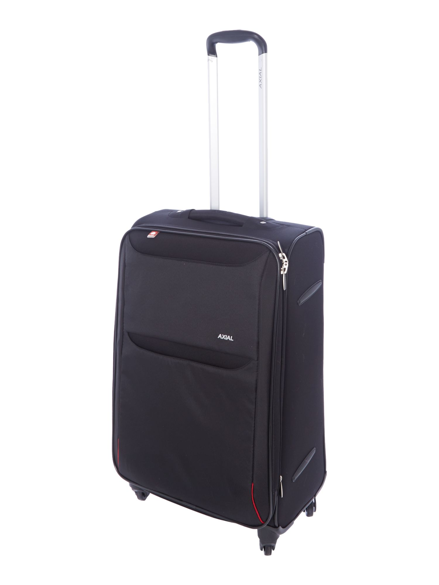 Delsey Axial 350 black 4 wheel soft medium case