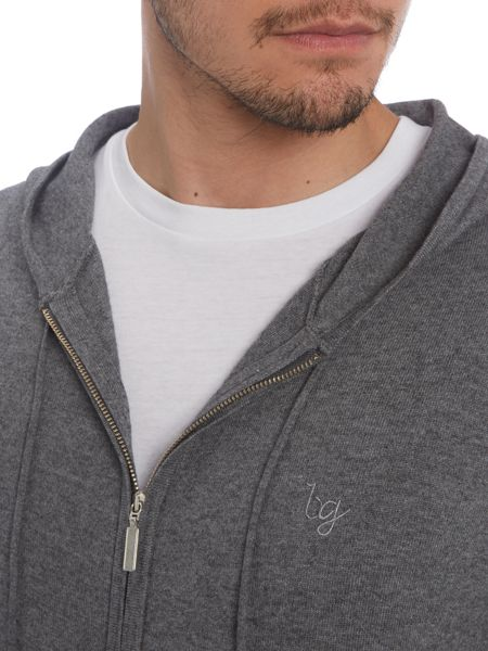 Bergano Greys Concealed zip hooded jumper