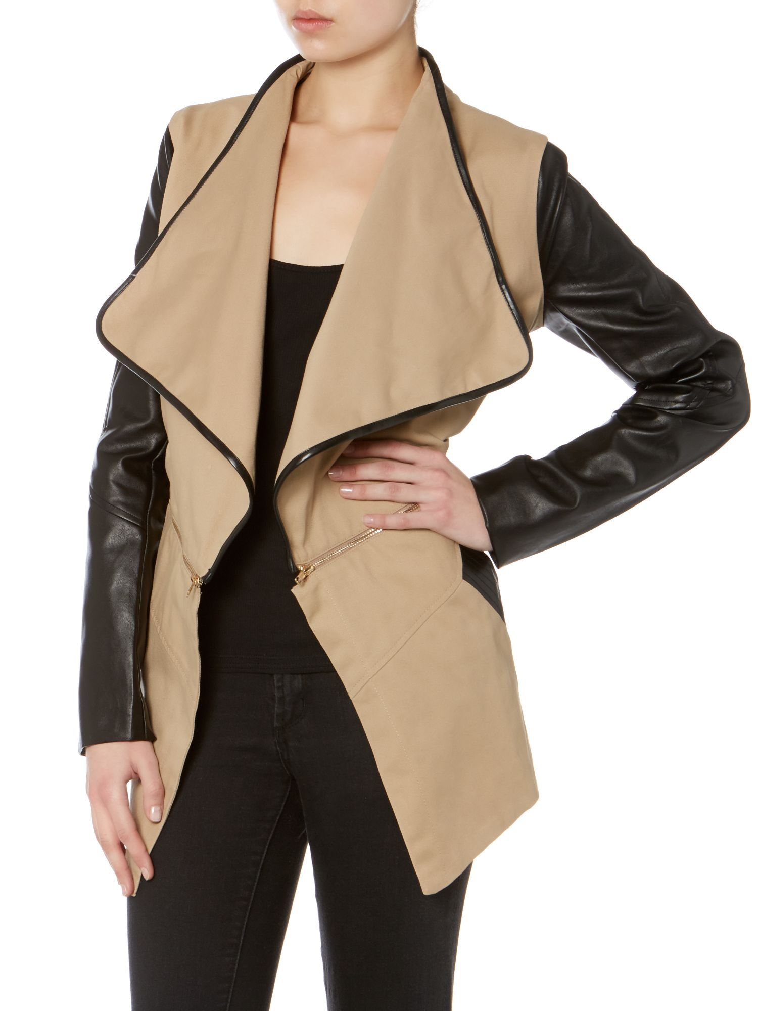 Contrast sleeves jacket