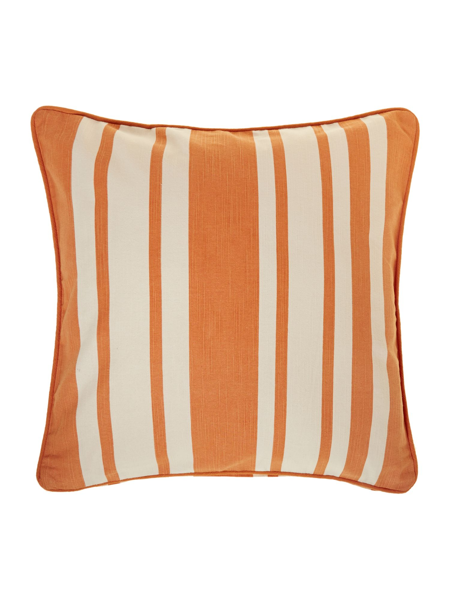 Stripe cotton cushion, Orange