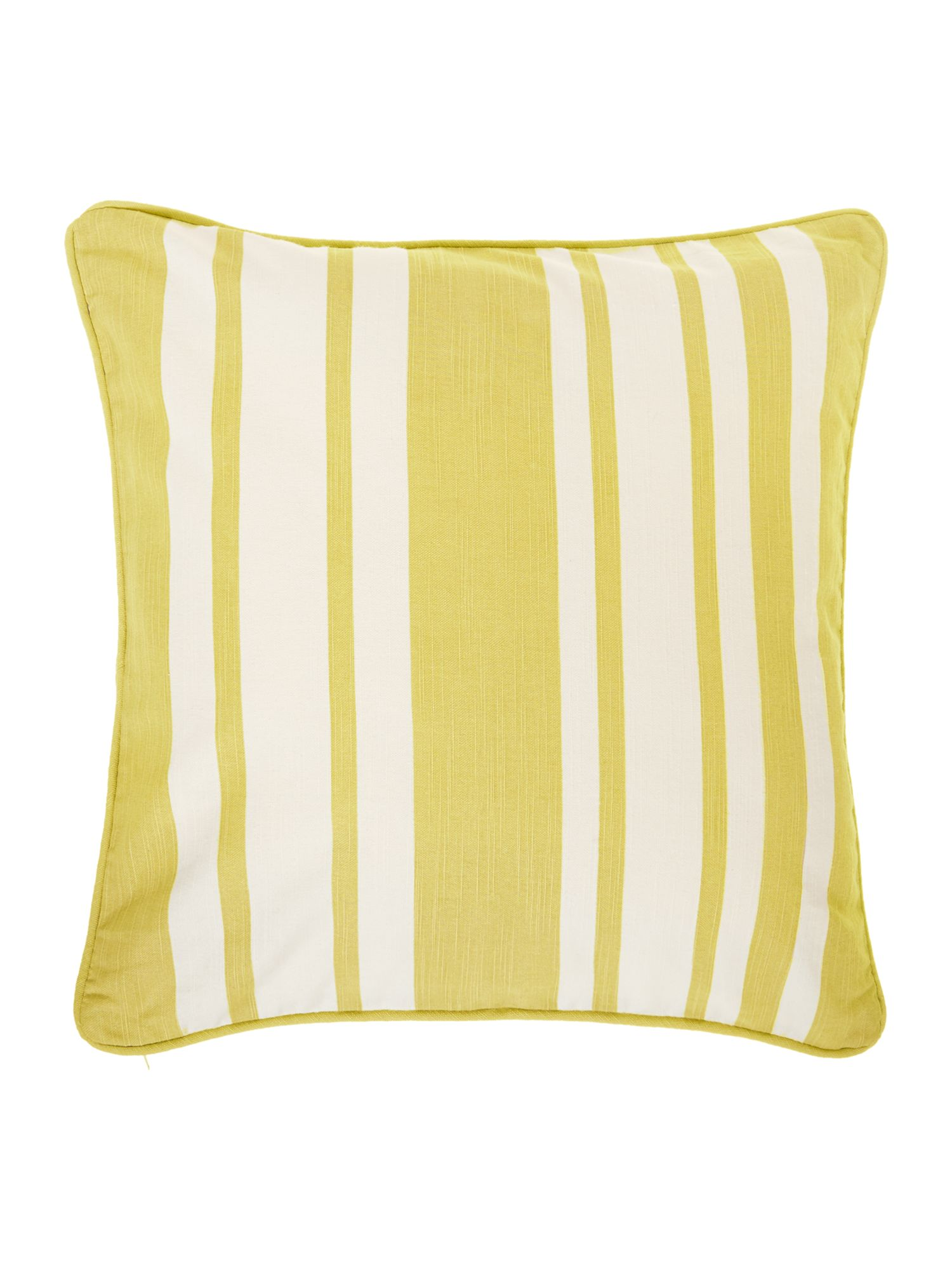 Stripe cotton cushion, Lime