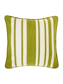 Stripe cotton cushion, Green