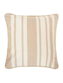 Stripe cotton cushion, Latte