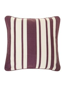 Stripe cotton cushion, purple