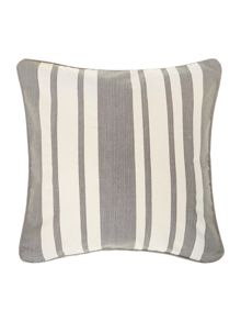 Stripe cotton cushion, Grey