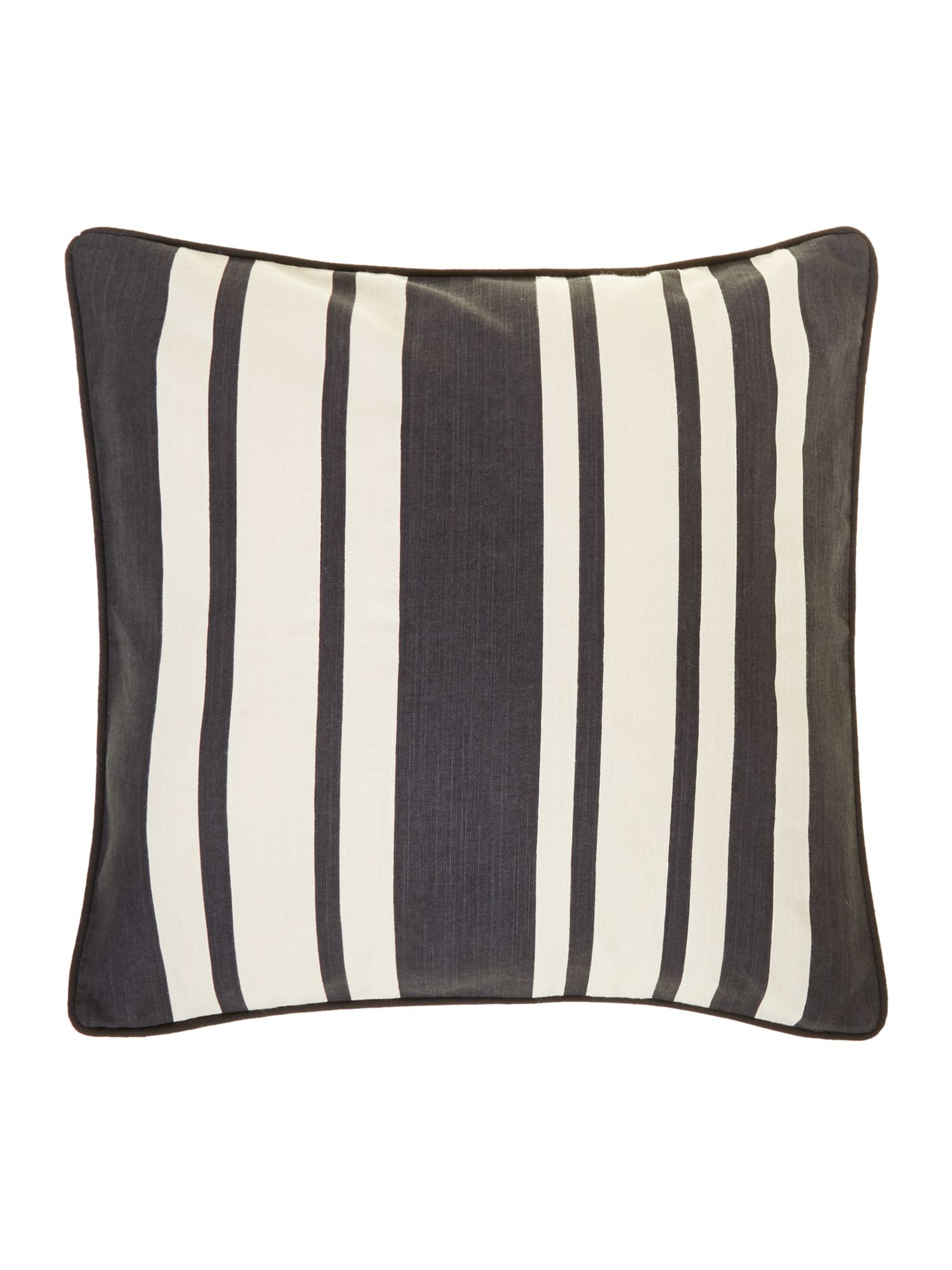 Stripe cotton cushion, Black