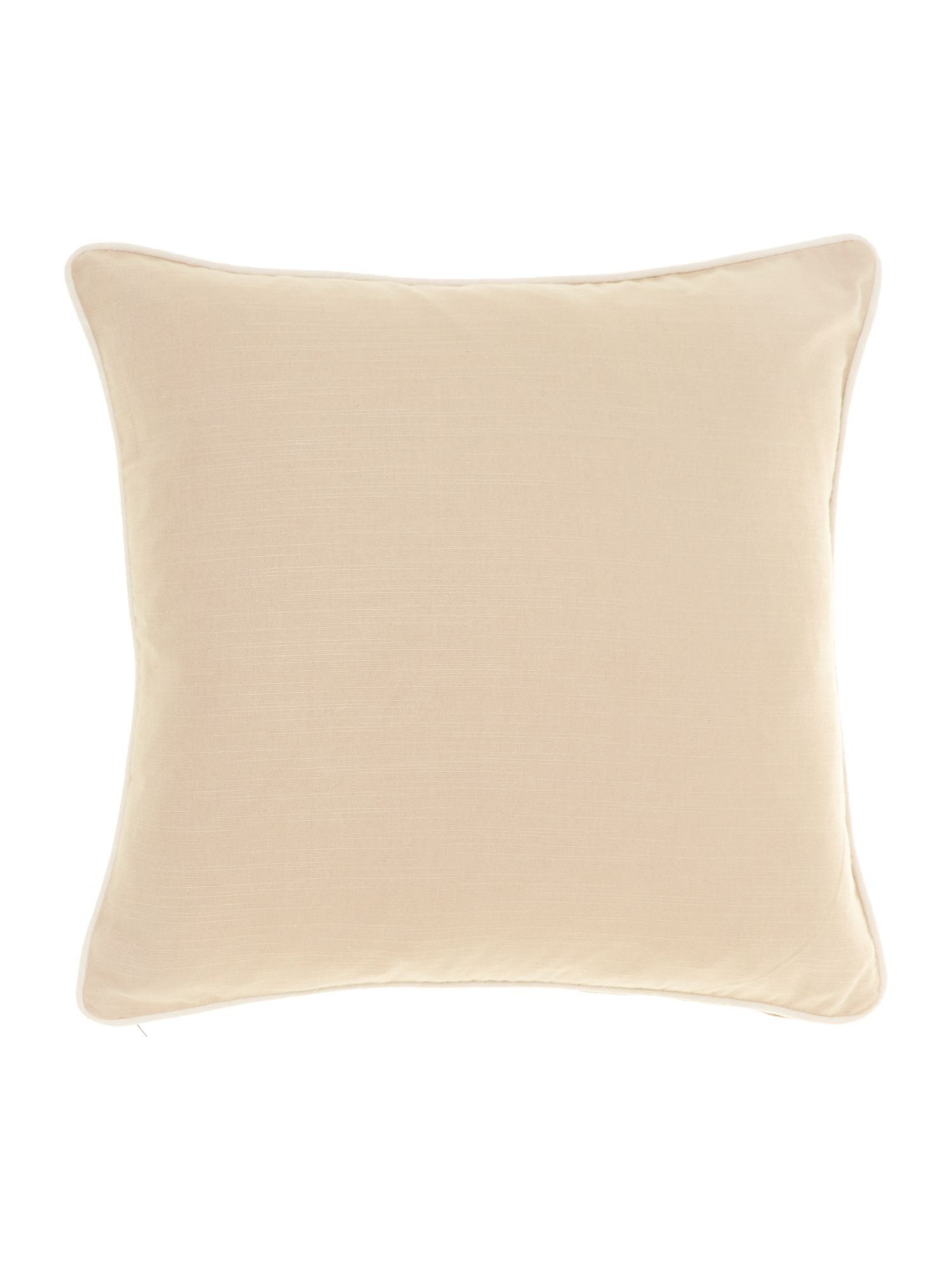 Plain cotton cushion, Latte