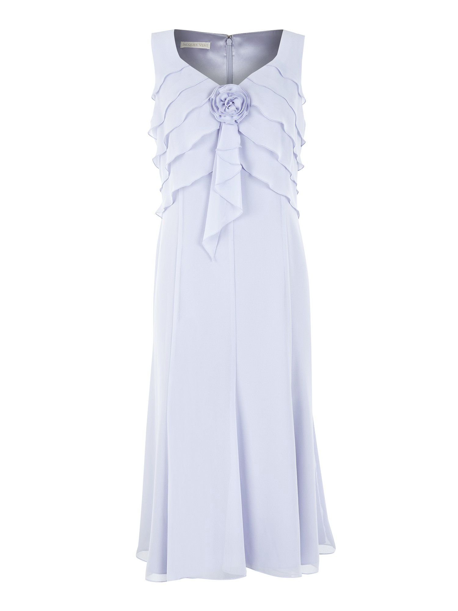 Lilac chiffon layer corsage dress
