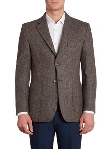 Veteran wool blazer with elbow patches