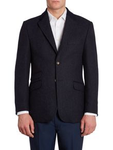 Borndale wool blazer with elbow patches