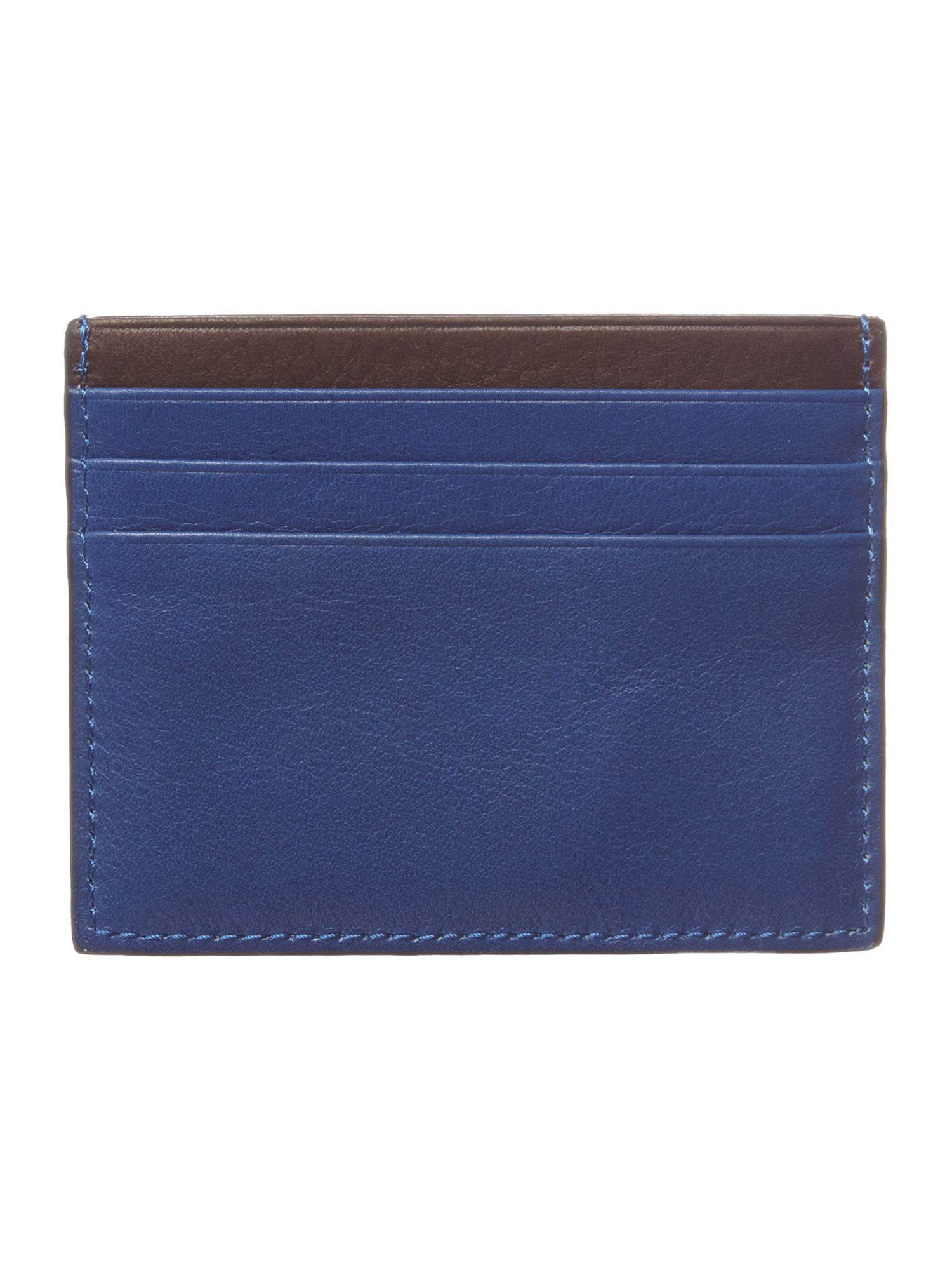 Bright leather card wallet