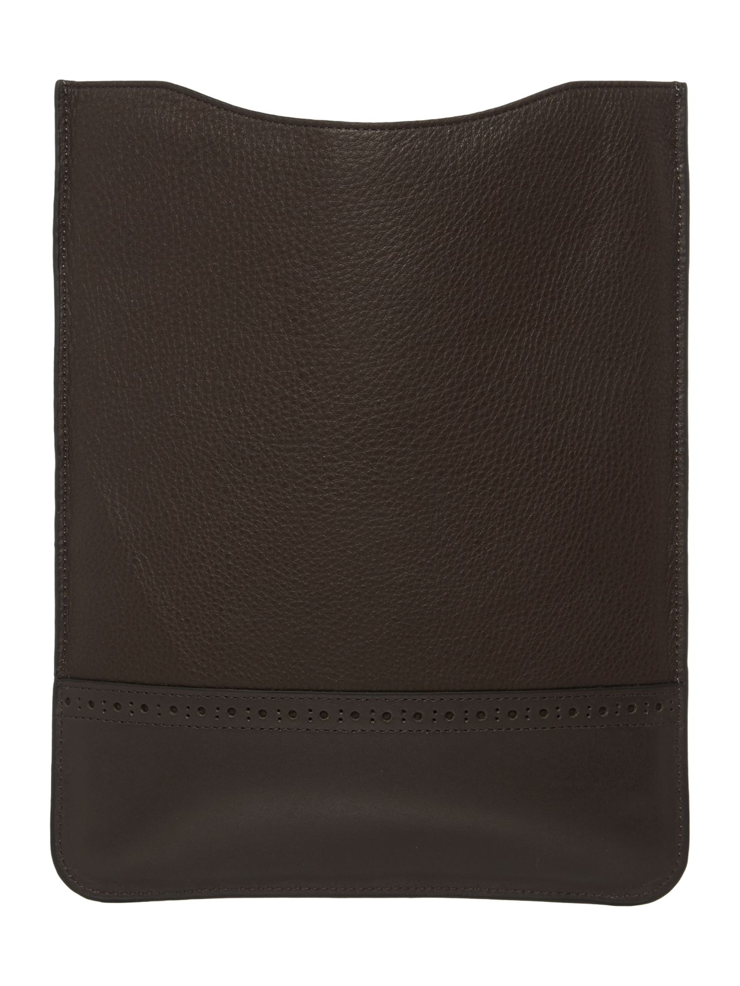 Broguing leather tablet case