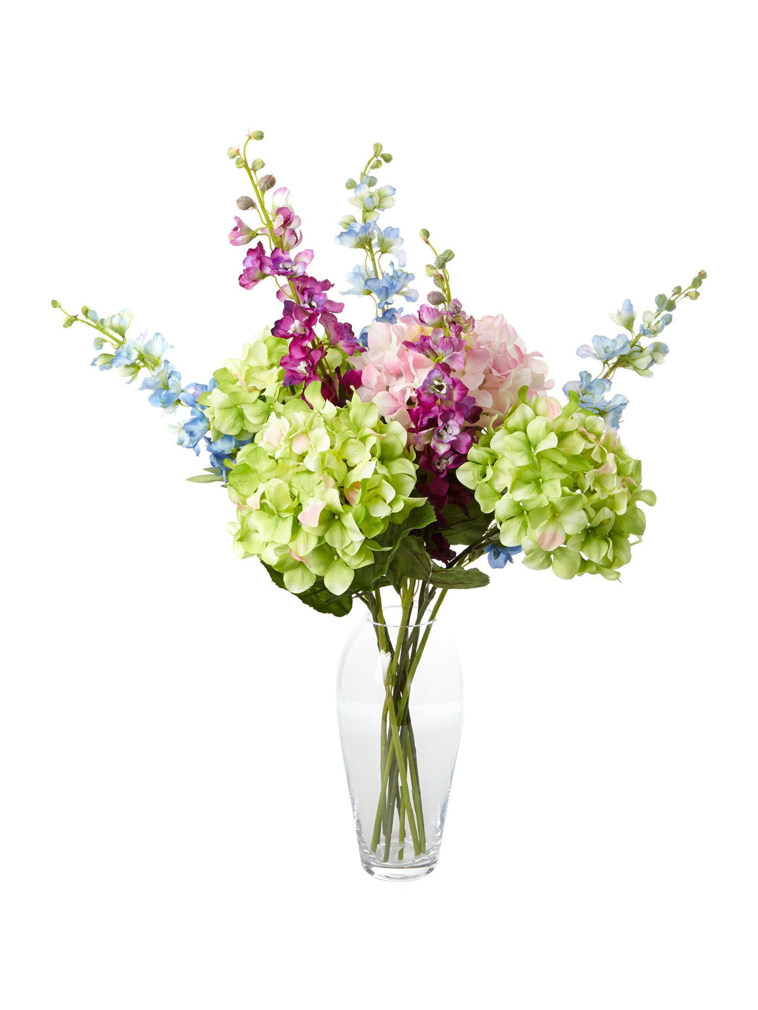 Pink delphinium spray