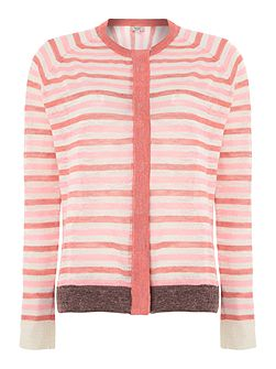 Hoss Intropia Long sleeve fine stripe knit jumper
