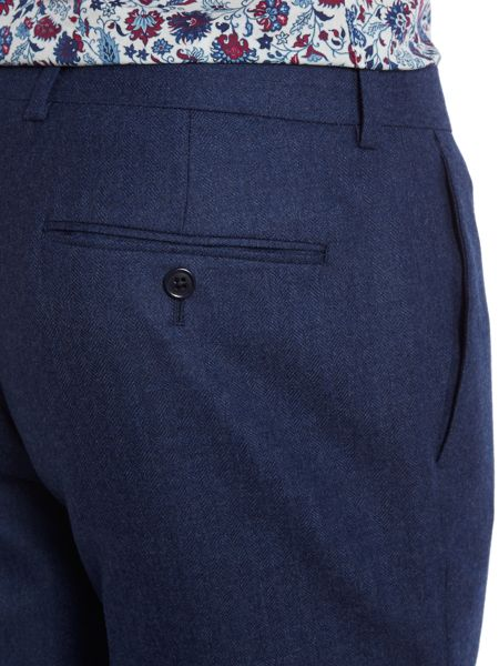New & Lingwood Hull herringbone flannel trousers