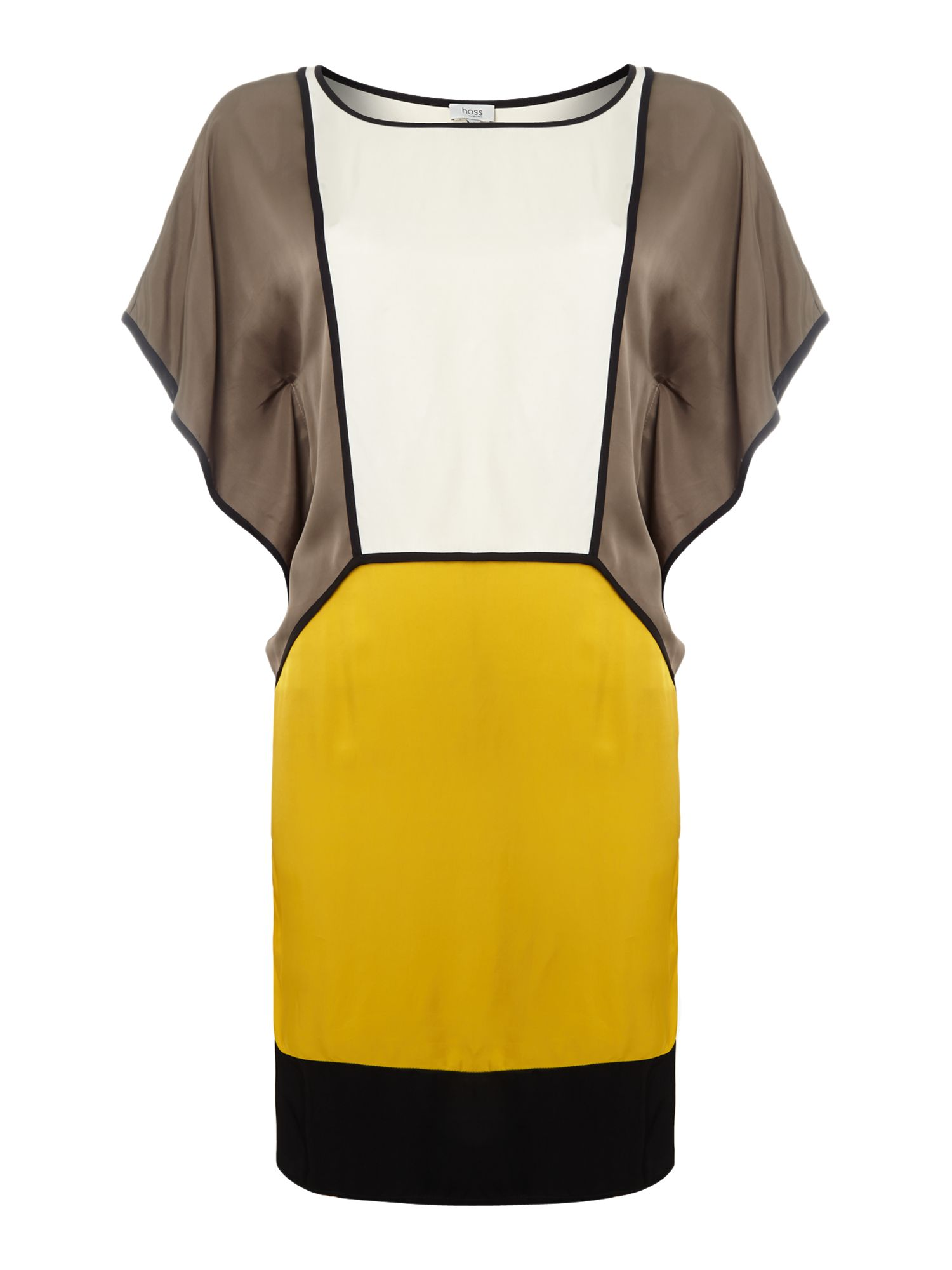 Colour block draped dress